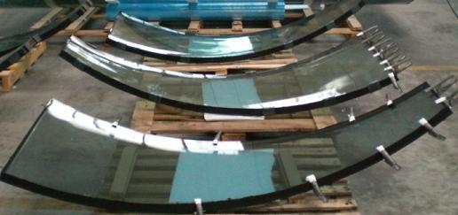 Виды гнутых стеклопакетов